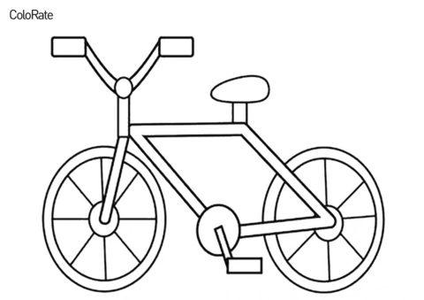 Простой велосипед - Велосипеды раскраска распечатать на А4