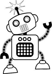 Радио-робот - Роботы бесплатная раскраска