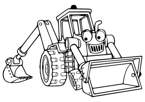 Радостный уборщик снега - Трактора распечатать раскраску на А4