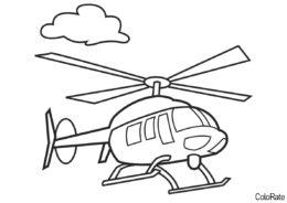 Бесплатная раскраска Раскраска вертолета - Вертолеты