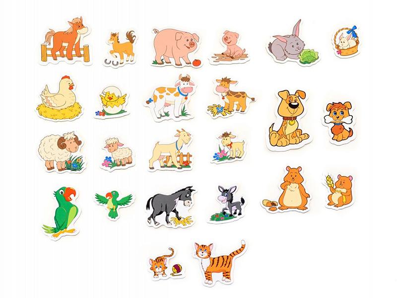 Раскраски животных для детей - примеры раскрашивания