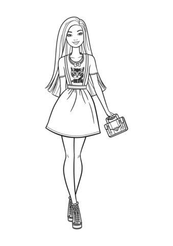 Раскраска Редкая модница - Барби