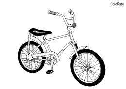 Ретро двухколёсник разукрашка скачать и распечатать - Велосипеды