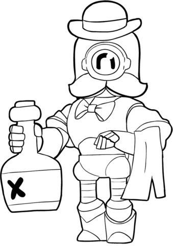 Раскраска Рико в роли официанта распечатать на А4 - Браво Старс
