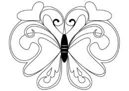 Рисунок бабочки раскраска распечатать на А4 - Бабочки