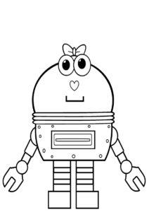 Раскраска Робот-дама - Роботы