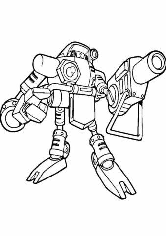 Раскраска Робот Гамма распечатать | Соник