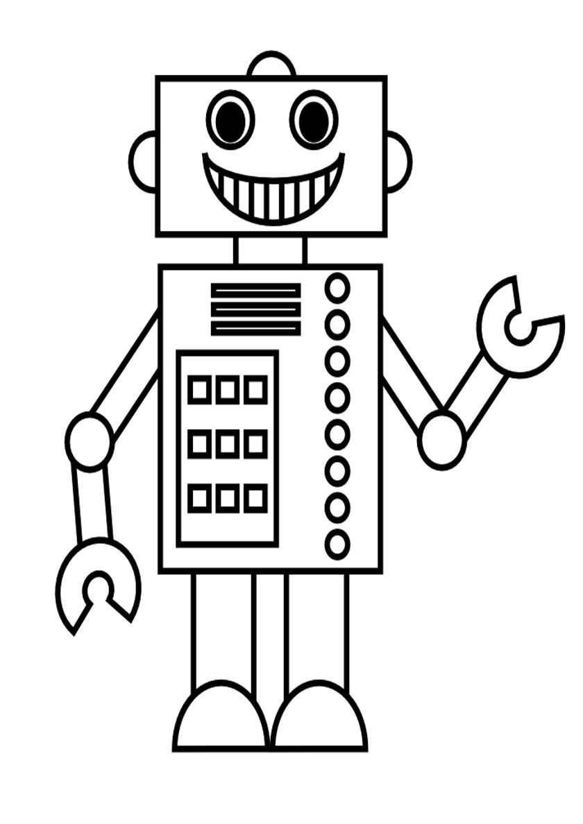 Раскраска Робот-мастер распечатать | Роботы