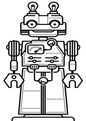 Раскраска Робот механический распечатать и скачать - Роботы