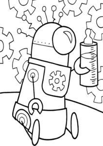 Робот-младенец - Роботы распечатать раскраску на А4