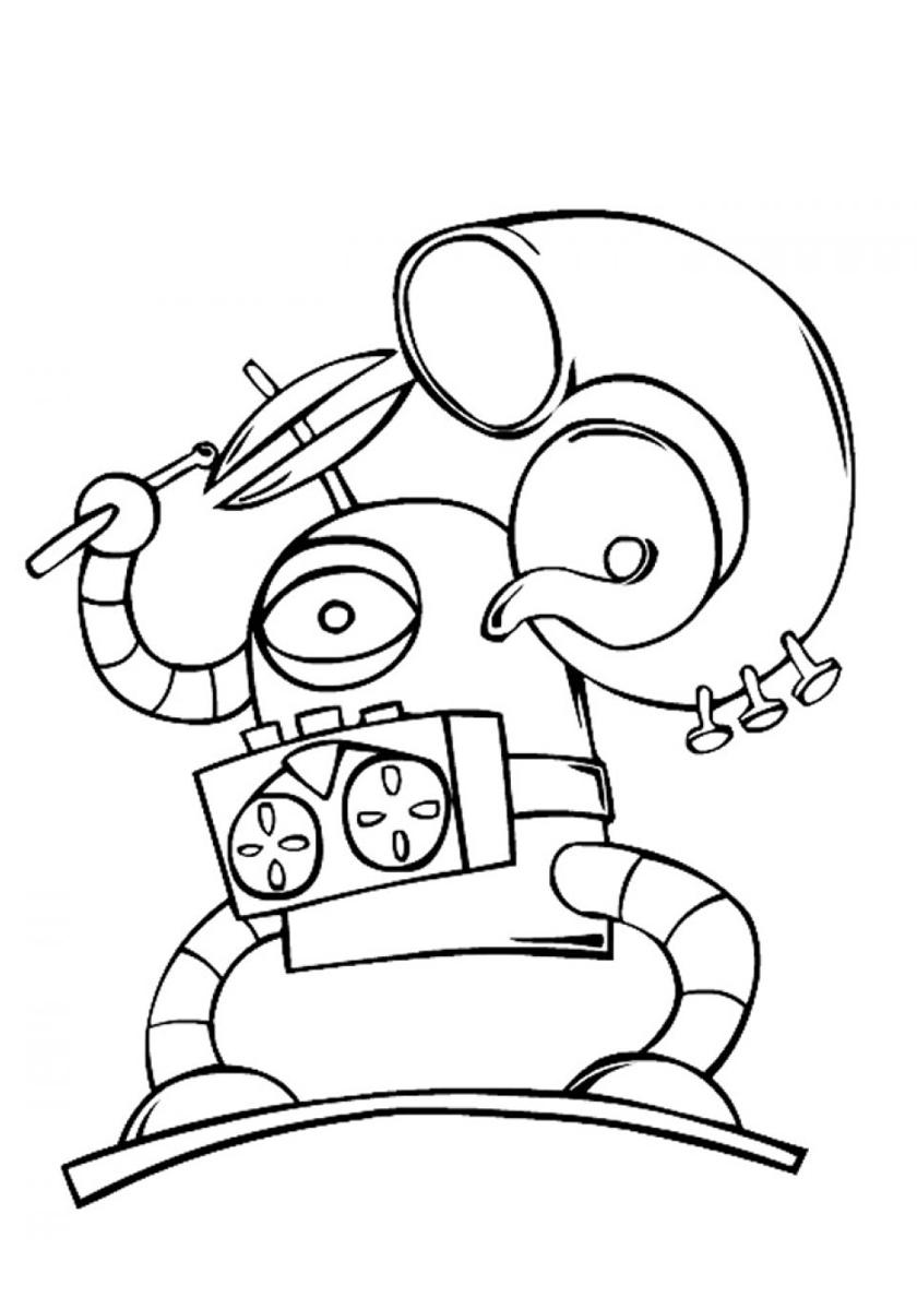 Раскраска Робот-музыкант распечатать | Роботы