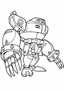 Бесплатная разукрашка для печати и скачивания Робот Омега - Соник