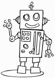 Робот-оператор (Роботы) распечатать бесплатную раскраску