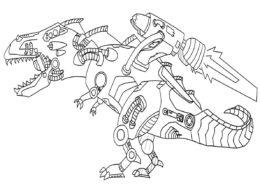 Раскраска Робот-пила распечатать на А4 - Роботы