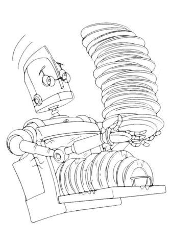 Распечатать раскраску Робот-посудомойщик - Роботы