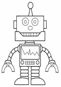 Раскраска Робот-ремонтник распечатать на А4 - Роботы