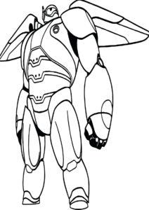 Робот-супермен раскраска распечатать на А4 - Роботы