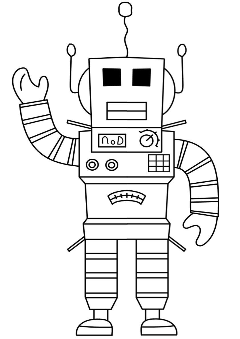Раскраска Робот-сварщик распечатать | Роботы
