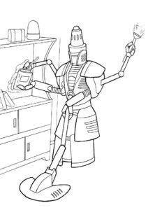 Робот-уборщик - Роботы распечатать раскраску на А4