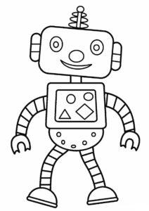 Роботы распечатать раскраску на А4 - Робот-ученик