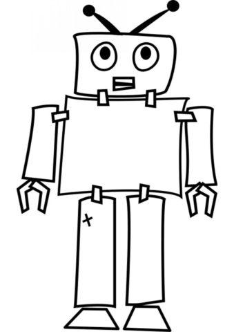 Робот-ветеран (Роботы) бесплатная раскраска
