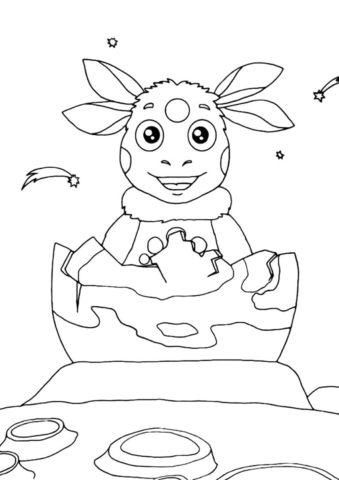 Рождение лунной пчелы распечатать разукрашку бесплатно - Лунтик