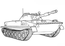 Танки бесплатная разукрашка - Российский танк ПТ-76