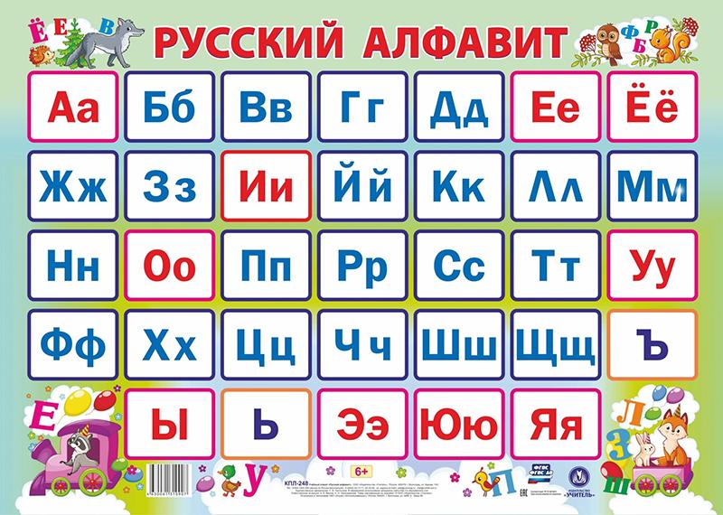 Все буквы русского алфавита