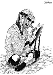 Раскраска Саконджи Урокодаки - Раскраски из аниме «Клинок, рассекающий демонов»