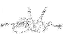 Бесплатная раскраска Самолет Браво распечатать на А4 - Самолеты