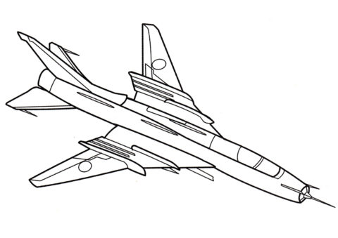 Самолет Су-22 - Самолеты раскраска распечатать на А4