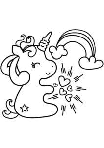 Единороги распечатать раскраску на А4 - Счастливая малютка
