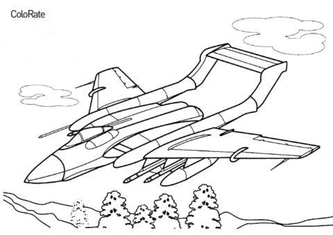 Военные распечатать раскраску на А4 - Sea Vixen FAW