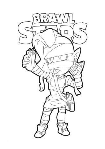Браво Старс распечатать раскраску - Сэлфи в образе мумии