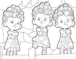 Серьезные друзья (Мерида) раскраска для печати и загрузки