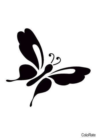 Серицин монтела (Трафареты бабочек) трафарет для печати и загрузки