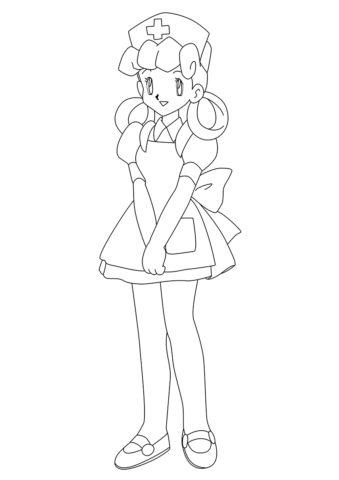 Раскраска Сестра Джой - Покемоны