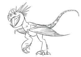 Шагающая Громгильда - Драконы бесплатная раскраска