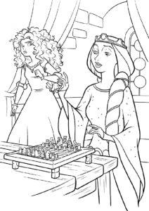 Раскраска Шахматная партия распечатать и скачать - Мерида