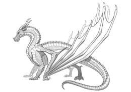 Раскраска Шестилапый ящер распечатать на А4 - Драконы