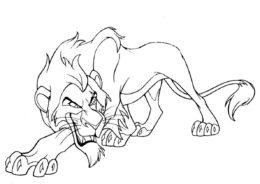 Раскраска Шрам распечатать на А4 и скачать - Король Лев