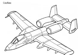 Бесплатная раскраска Штурмовик А10 Thunderbolt II - Военные