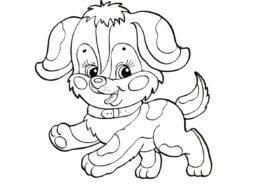 Симпатичный щенок бесплатная раскраска - Собаки и щенки