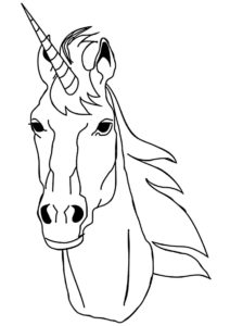 Сказочный рог (Единороги) разукрашка для печати на А4