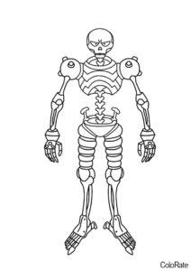Скелет из мультфильма раскраска распечатать на А4 - Зак Шторм