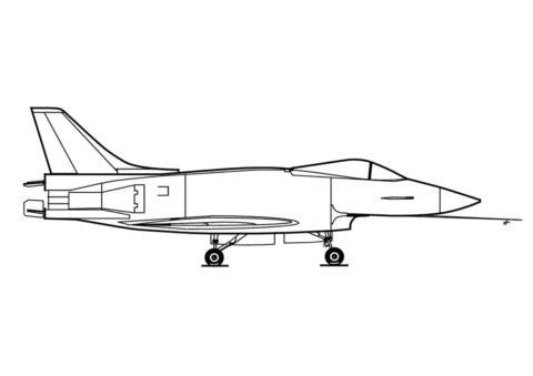 Скоростной истребитель распечатать разукрашку бесплатно - Самолеты