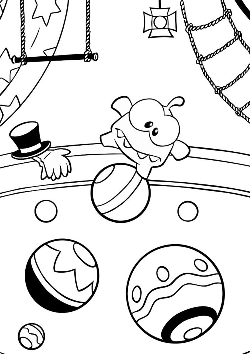 раскраска сладкоежка в цирке распечатать приключения ам няма