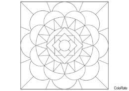 Сложное из простых форм (Геометрические фигуры) распечатать раскраску