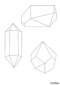 Раскраска Сложные фигуры - Геометрические фигуры