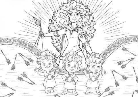 Раскраска Солнечные лучники - Мерида